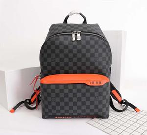 2020 neue moderne Luxus-Entwurfs-Tasche aus Leder und Canvas Large Capacity Mode Printing Luxuxmänner Rucksack NO: 40157