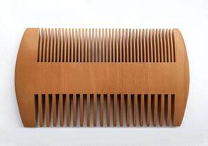 Pocket madera Barba peine lados dobles superangosta nave gruesa madera Peines Pente Madeira piojos pelo del animal doméstico libre de la herramienta