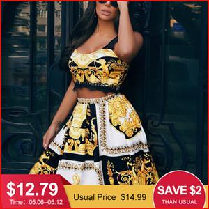 Missychilli Paisley Ouro Bodycon Vestidos Casuais Para As Mulheres Clube de Renda Curto Vestido de Festa Feminino Verão Elegante Vestido de Praia Do Vintage Y19051001