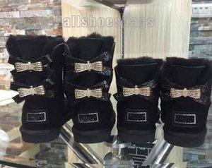 Gros 2020 nouvelles bottes de neige australien tube central coton chaussures femmes chaudes de la mode bowknot raquettes de forage