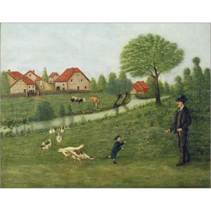 Henri Rousseau paintings Child with Geese canvas artwork for office wall decor large hand painted