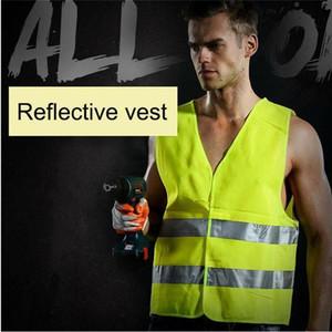 Yelek Yansıtıcı Çizgili Trafik Yelek Yüksek Görünürlük emniyet Vest Sanitasyon İşçi Giyim Reflektif Yelek Polis Çalışma Giyim DHB739