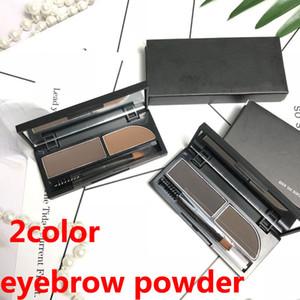 Augenbrauen-Enhancers Augenbraue Pulver 2color Augenbraue Pulver Enthalten brushs Spiegel von höchster Qualität DHL-freies Verschiffen