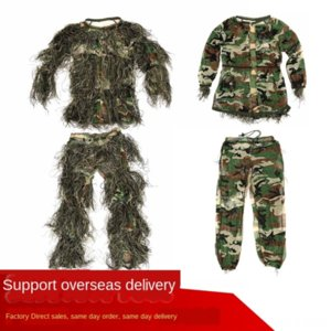 Outdoor jungle Burr eating chicken hunting bird watching invisible Geely clothing camouflage clothing children's invisible cloak
