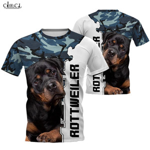 2020 animale di modo Rottweiler cane di Camo 3D Full Printed T-shirt Uomo Donna Harajuku Casual Top Dog Pet design stile punk
