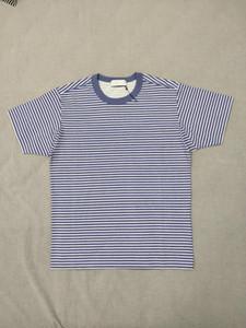 19SS Marina tişört Topstoney Pigment Baskılı Görüntü Şerit T Shirt Erkekler Ve Kadınlar Çift Rahat Tasarımcı Gömlek HFWPTX366