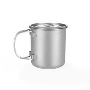 Camping Mug Titanium Cup Tourist Tableware Picnic Utensils Outdoor Kitchen Equipment Travel Cooking set Cookware Hiking
