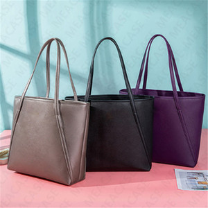 KS Women One-shoulder Bag Designer PU Leather Handbags Big Capacity Tote Bag for Ladies Luxury Fashion Casual Shopping Travel Pouch D7306