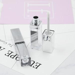 200 x 4ML Silver Cap Clear Lipgloss Tubes Makeup Liquid Matte Lipstick Lip Care Cream Oil Empty Cosmetics Containers Case