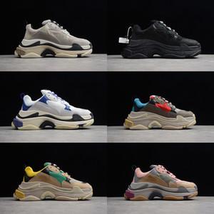 Diseñador París 17FW triple s moda viejo papá shose Hombres y mujeres moda casual zapatos bowling zapatos