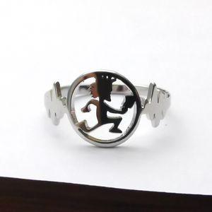 نمط جديد أفضل الهدايا للرجال الأزياء والمجوهرات الفولاذ المقاوم للصدأ W / سحر القلب hatchetman حلقة ICP مجوهرات 7-10 #