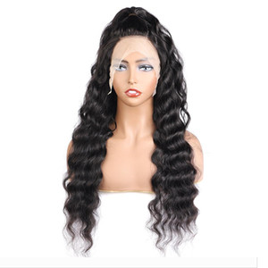 10A Loose Deep Wave 4*4 Transparent Lace Closure Wigs Brazilian Hair Straight Human Hair Wigs with Baby Hair Body Wave Water Kinky Curly