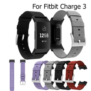 Woven Canvas Fabric strap for Fitbit charge 3 Band Smart bracelet Wirst Replacement Stable Watch Strap for charge3