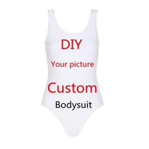 Moda donna Tuta Personalità 3D stampa lettera tuta Personalizza costumi da bagno elastici Slim beachwear DropShipping Grossisti
