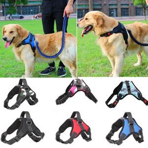Pop Big Dog doux Harnais réglable Pet Grand Dog Walk Out Harnais Collier Dragonne pour chiens Petit Moyen Gros