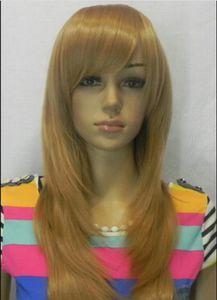 WIG free shipping New Fashion Long Dark Blonde Cosplay Women's wig wigs