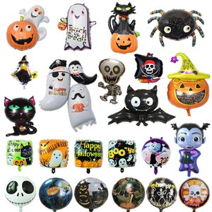 Halloween balões de folha de abóbora globos mickey halloween decoração DIY balões de festa Bat Ghost Halloween Hélio Balão DHL Frete Grátis