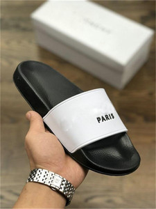 Paris Luxury Designer Mens Womens Summer Sandals Beach Slide Slippers Ladies Flip Flops Loafers Print Leather Solid Color US5.5-11 with Box