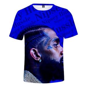 Vêtements d'été 3D T-shirts manches courtes Hauts-américain Rapper Nipsey Hussle T-shirt des hommes
