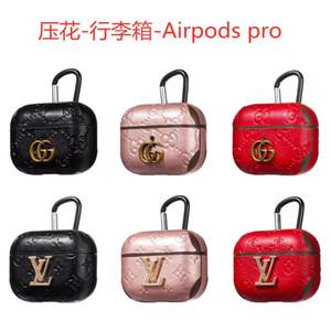 designer airpods 3 Casi Per Apple Airpods Pro PU copertura di modo Anti Perso gancio catenaccio Portachiavi per Airpod caso di trasporto libero