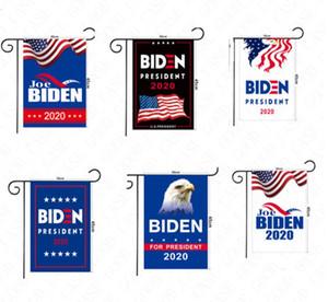 30 * 45cm Gli Stati Uniti Elezione Biden Trump Letters Stampa Bandiere Giardino a mano Stick Flag 2020 American Flags Garden Home Decoration Banner vendita D61602