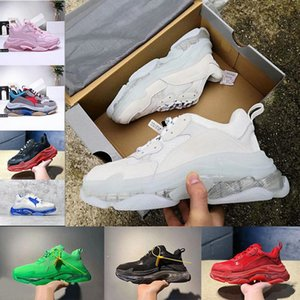 Free Shipping 2020 Hot Running Shoes Crystal Bottom 17W Triple S Luxury Designer Womens Mens Vintage Dad Platform Shoes Trainers Sneakers