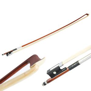 Nuevo 4/4 arco de violín Arbor crin blanca cobre con Mango Negro Marrón Violín Accesorios Piezas