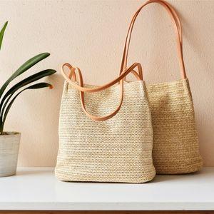 Belle2019 Straw Time Rui Плетеный Статья Одно плечо Ведро Ins Сто Возьми за руку Продвинуть Женщина Пакет Литература Weave Bag