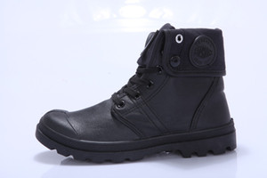 ventas directas hombres y mujeres militares marea shoesFactory nueva pareja de gama alta de la PU de los zapatos de suela gruesa Martin botas zapatos de cuero impermeables