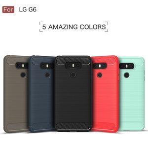 De luxe En Fiber De Carbone Cas Pour LG G6 Cas De La Mode Ultra Mince Doux Silicone Gel Protéger Couverture Pour LG G 6 Antichoc Téléphone Cas