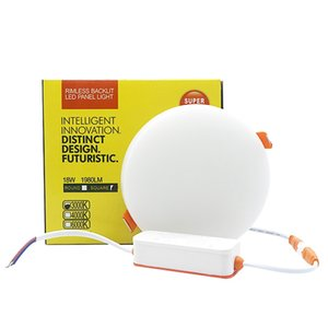 AC 85-265V 10W 18W 24W 36W LED Panel Light Rimless Backlight Round LED Ceiling Light White Warm White