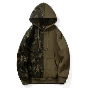 Neue Designer Casual Camouflage Hoodies Männer Fleece Langarm Mann Pullover Sweatshirt Skate Hip Hop Männlichen Camo Mit Kapuze Streetwear
