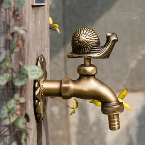 Forma animale rubinetti Campagna Giardino da giardino all'aperto Rubinetti d'acqua Art Brass Art Lavatrice Antique Lavatrice MOP Miscelatore Miscelatore Miscelatore Montatura a parete
