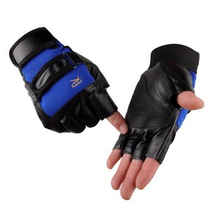 Leather Fitness Sports Weightlifting Weight Lifting Men Gym Gloves mitts Thicken Half Finger Summer Glove Durable
