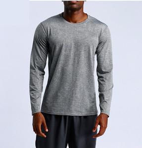 Komfortable LU Schnell trocknendes T-Shirt Männer laufender Sport losen und bequemes Short-T-Shirt Männer-Gymnastik-Eignung-Training Tops Bekleidung
