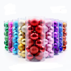 24pcs / lot 30mm Noel Topu Süsler Noel ağacı Dekor Topu Bauble Noel Partisi Noel için top Süsleme süslemeleri Asma