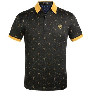 Мужская рубашка поло дизайн письмо печать футболка модная рубашка поло мужской верхней улицы хлопка рубашки футболки