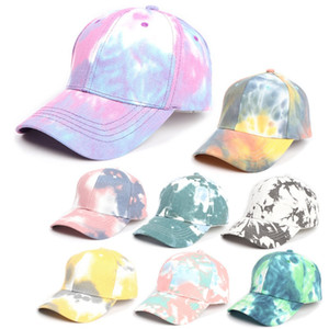 Gradient Baseball Cap Tie-dye Trucker Hat Spring Summer Designer Colorful Sun Hat Fashion Outdoor Sports Hip-hop Cap free shipping HHA1425