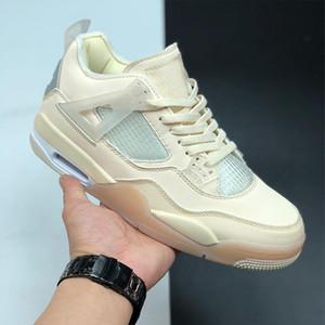 4 парус муслин белые черные баскетбольные туфли мужчины женщины 4S SP WMNS парус спортивные кроссовки с коробкой