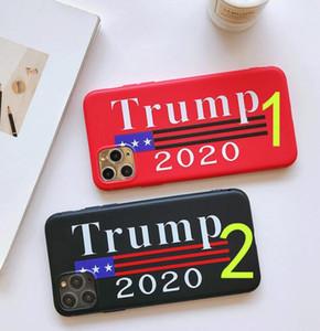 Donald Trump 2020 Téléphone TPU Verre Trempé Téléphone Couverture anti-chute Cas de téléphone portable Votez Président Cartoon Accessoires GGA3455 Case