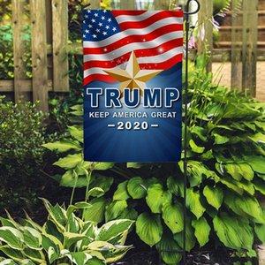 30 * 45cm Trump Bahçe Bayraklar 30 * 45CM Başkanı Genel Seçim Banner 2020 Trump Bayrak Polyester Flama Banner Bayraklar Bahçe Bayraklar MMA3482N