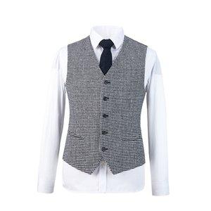 Men's Tailor light black white overcheck Suit Sets Wedding Dress Suit Groom Wear Tuxedo Jacket With Pant(Jacket+bowtie+Pant)