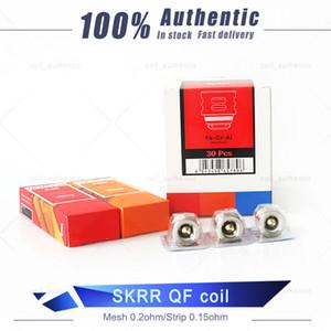 100% genuino SKRR QF Coil Meshed 0.2ohm QF Tiras Bobinas 0.15ohm Para Luxe 100% auténtico