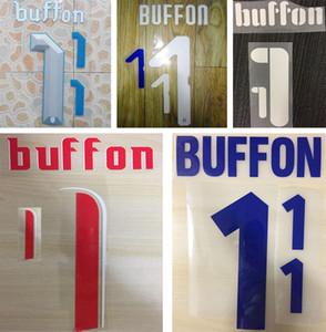 Buffon retro sıcak baskı futbol namesets İtalya milli oyuncunun damgalama sticker baskılı numaralandırma etkilendim vintage futbol mektuplar font