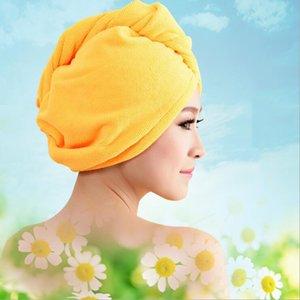 Shower Caps Towel Women Microfiber Magic Shower Caps Hair Dry Drying Turban Wrap Towel Hat Cap Quick Dry Dryer Bath 60*25cm CFYZ355Q