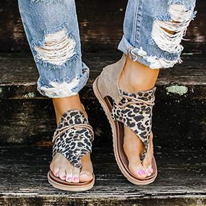 Floopi Sandales pour les femmes mignon Toe Open Wide élastique design Sandales d'été Comfy Faux cuir cheville sangles W / Flat Sole mousse à mémoire 07