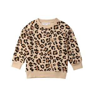 Toddler Kid Baby Girl Boy Leopard Print Tops Long Sleeve T shirt Sweatshirts Clothes
