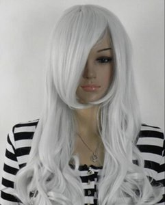 WIG free shipping Lolita Mixed Gray Gradient New Fashion Long Curly Cosplay Anime Hair Full Wig
