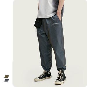 Nuovo arrivo con coulisse Mens diritto Pantaloni Streetwear Pantaloni Uomo altezza Regular Fit pantaloni casuali di estate degli uomini