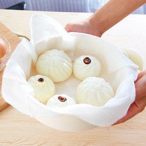 El algodón del paño de cocina Vapor Vapor hilo de algodón del paño antiadherente bola de masa bollos dim sum Filtrar Suministros paño de cocina
